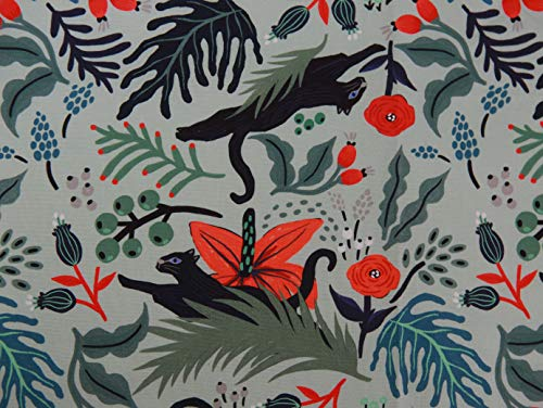 COTTONVILL MallangLuna Floral Forest Collection Cotton Quilting Fabric 3YD (Jaguar-1)