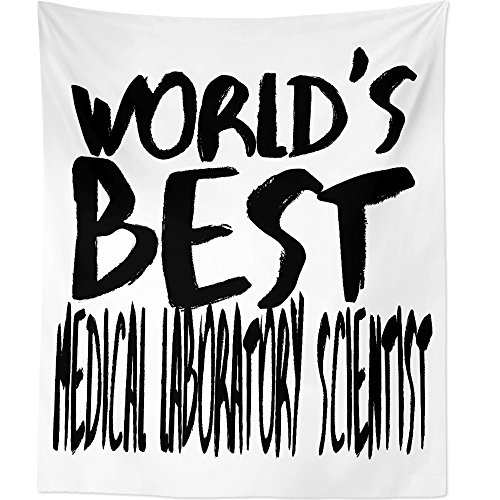 Westlake Art Worlds Best Medical Laboratory Scientist - Wall Hanging Tapestry - Sayings Artwork Home Decor Living Room - 68x80 Inch (2001-CE6BD) by Westlake Art