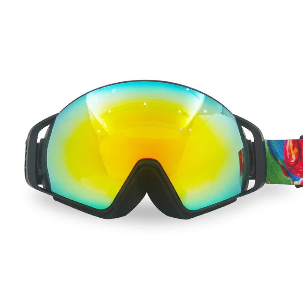 スノーボード用ゴーグル、防曇用雪、紫外線防止、スキースノーボード用ゴーグルスキーゴーグル男性用と女性用 (色 : 黄) 黄
