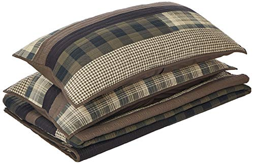 Woolrich Winter Plains Quilt Mini Set Cal King Taupe, King King (100 King Quilt Cotton)