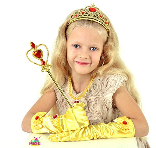 Princess Belle Gift Set 8Pieces Yellow Dress Up Christmas Party for Girls - http://coolthings.us