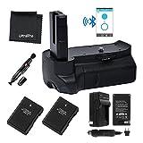 Bluetooth Battery Grip Bundle F/ Nikon D3100, D3200, D3300: Includes Vertical Battery Grip, 2-Pk EN-EL14 Long-Life Batteries, Charger, Microfiber Cleaning Cloth, Lens Cleaning Pen