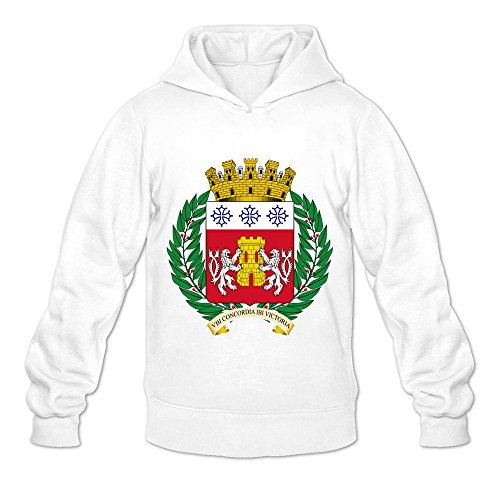 Crebourg Coat Of Arms Cool O-Neck White Long Sleeve Hoodie For Adult Size L