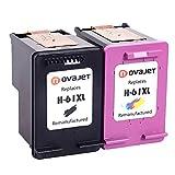 Novajet Remanufactured 61XL 61 XL Ink Cartridge (Black Colour) CH563WN CH564WN For HP Deskjet 1000 1050 2510 3510 -ENVY 4500 5530 Officejet 4630 4635