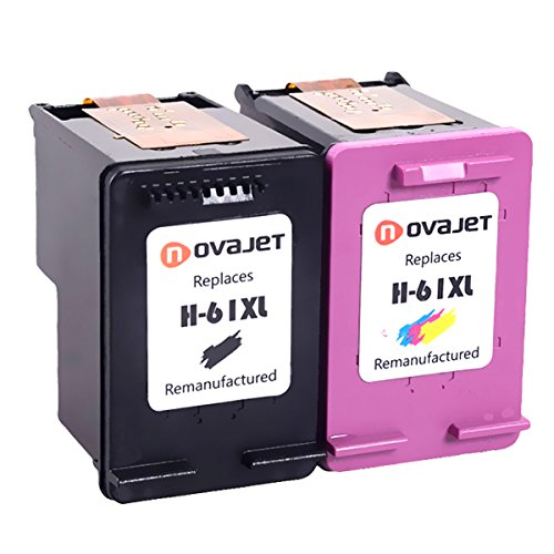 Novajet Remanufactured 61XL 61 XL Ink Cartridge (Black Colour) CH563WN CH564WN For HP Deskjet 1000 1050 2510 3510 -ENVY 4500 5530 Officejet 4630 4635