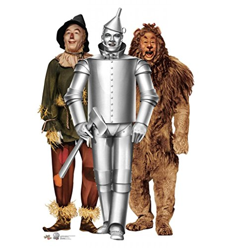 Tin Man, Cowardly Lion and Scarecrow - The Wizard of Oz 75th Anniversary (1939) - Advanced Graphics Life Size Cardboard Standup (Characters Oz Wizard)