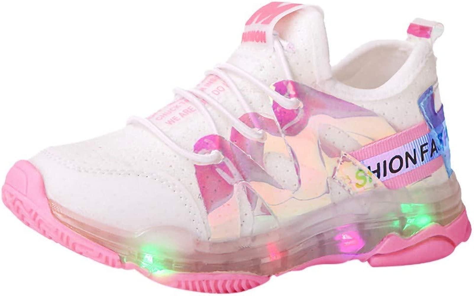 Amazon.com: Zapatillas para niños y niñas con luces LED de ...