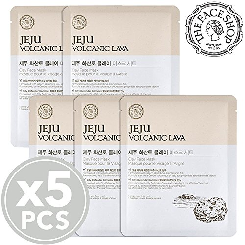The Face Shop Jeju Volcanic Lava Clay Facial Mask Sheet