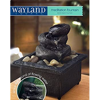 Amazon Com Wayland Squaretm Meditation Tabletop Fountain