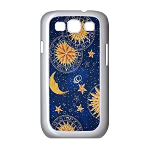 YNACASE(TM) Sun Moon Space Nebula DIY Cover Hard Back Cover Case for Samsung Galaxy S3 I9300,Personalized Phone Case with Sun Moon Space Nebula