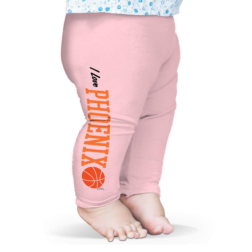 Twisted Envy Baby Leggings I Love Phoenix Basketball Baby and Toddler Girls Leggings