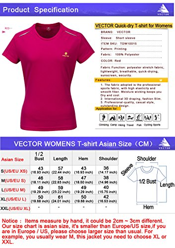 VECTOR - Camisa deportiva - Manga corta - para mujer Rosso