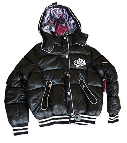Eckored Women Stylish Down Jacket Caviar (2XL) style EFO0375Z CAV by Ecko Red