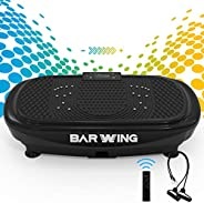 BARWING Vibration Plate Exercise Machine- 4D Vibration Platform Machine for Home Workouts with Resistance Band