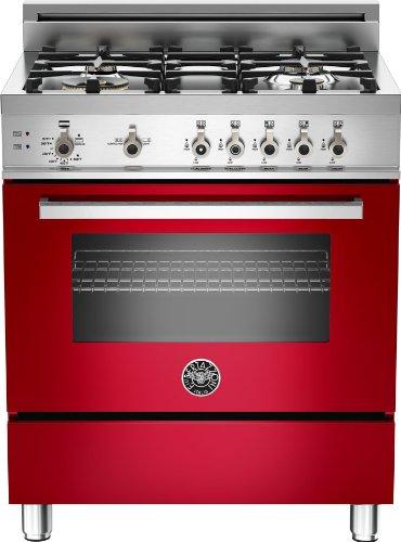 Bertazzoni Freestanding Ranges (PRO304GASROLP | Bertazzoni Professional 30 Gas Range, 4 Burners, Liquid Propane - Rosso Red)