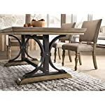 Roundhill Furniture Birmingham Dining Set, One Size, Driftwood Finish