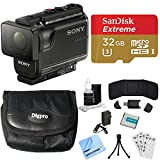 Sony HDR-AS50/B Full HD Action Cam Deluxe Bundle includes HDR-AS50/B Action Cam, Battery, 32GB microSD Memory Card, Card Reader, Card Wallet, Mini Tripod, Cleaning Kit, Beach Camera Cloth and More!