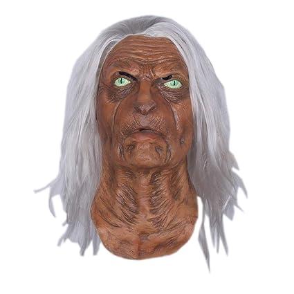 Máscara De Halloween Máscara De Gato Máscara De Terror Fox Cara Completa De Terror Capucha Decorativa
