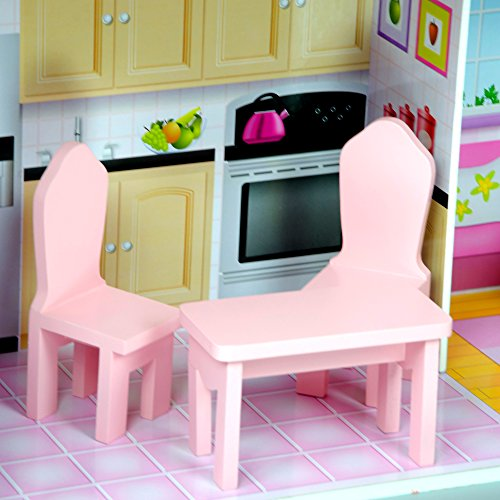 Teamson Kids Fancy Mansion Wooden Doll House With 13 Pcs Furniture For 12 Inch Dolls Buy