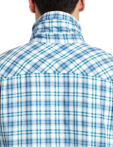 Azzurro Large Blue hyper Sleeve Long Ridge Uomo Columbia Plaid Camicia Silver 431 f0qvA
