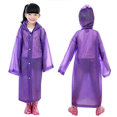 YideaHome子供 キッズ レインコート 男女兼用 軽い 合羽 梅雨 軽くて蒸れにくい 服が濡れずに体が冷えないので風邪を引きにくい