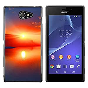 """For Sony Xperia M2 , S-type Sunset Beautiful Nature 97"""" - Arte & diseño plástico duro Fundas Cover Cubre Hard Case Cover"""