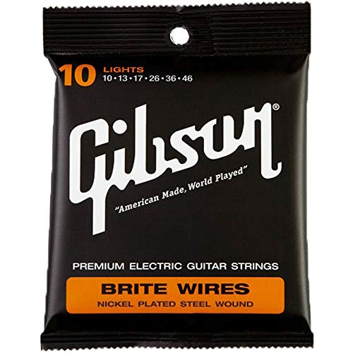 Gibson Brite Wires Electric Guitar Strings, Light ()