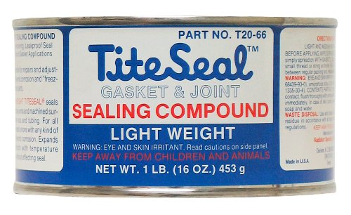 TITESEAL by GUNK  T2066-12PK Light Weight Sealing Compound - 1 lb., (Case of 12) by Tite-Seal