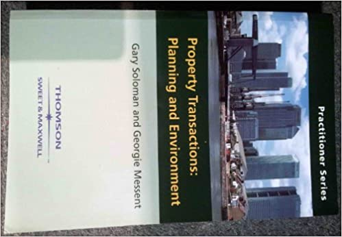 Book Environmental and Planning Issues in Property Transactions: Planning and Environment