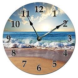 OCEAN WAVES ON SHORE CLOCK Extra Large 15.5 to 16 Wall Clock - Ocean Beach Wall Clock