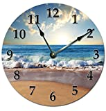 OCEAN WAVES ON SHORE CLOCK Extra Large 15.5″ to 16″ Wall Clock – Ocean Beach Wall Clock For Sale
