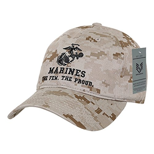 BHFC United States US Marine Corp USMC Marines Polo Relaxed Cotton Low Crown Baseball Cap Hat (Camo 1)