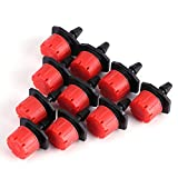 50/100/150pcs 360 Degree Adjustable Irrigation Drippers Head, Sprinklers Emitters Micro Drip Watering System for Flower Beds, Vegetable Gardens, Lawn on 1/4'' Tube(150)