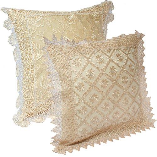 kilofly Decorative Vintage Lace Cushion Cover Pillow Case 15