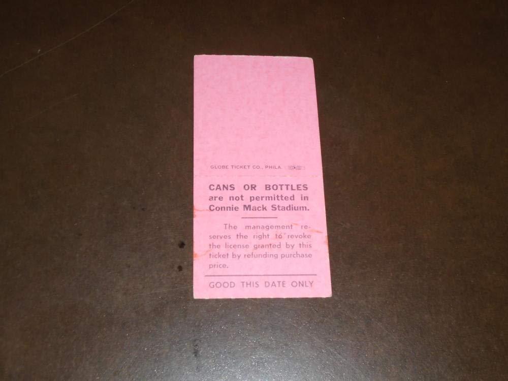 1964 HOUSTON COLT 45'S (LAST YEAR) AT PHILLIES TICKET STUB DICK ALLEN HOME RUN