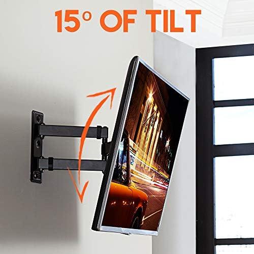 ECHOGEAR Full Motion TV Wall Mount Bracket for 26-55 Inch TVs – Extend, Tilt and Swivel Your TV - Easy Single Stud Install