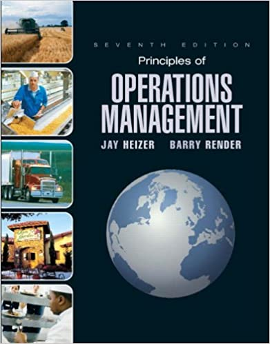 Principles of operations management 7th edition jay heizer principles of operations management 7th edition jay heizer barry render 9780132343282 amazon books fandeluxe Gallery