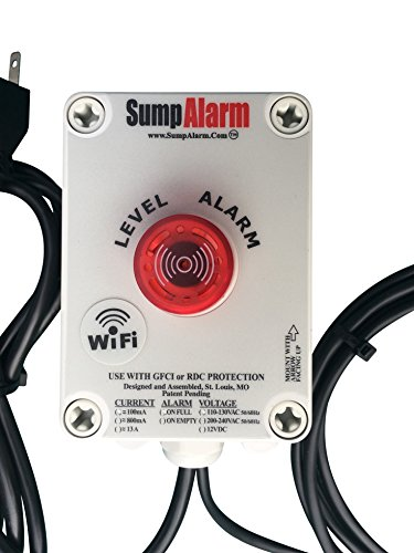 Wireless (Wifi) In/Outdoor Sump Pump or Septic Tank Monitor/High/Low Level Alarm