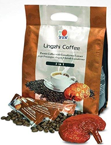 4 Packs DXN Lingzhi 3 in 1 Coffee with Ganoderma ( Total : 80 Sachets x 21g )