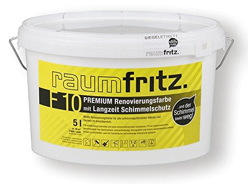Raumfritz F10 PREMIUM SCHIMMELSCHUTZFARBE 5 Ltr. mit LANGZEIT SCHIMMELSCHUTZ Raumfritz GmbH