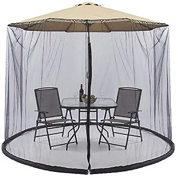 Amazon Com Patio Umbrella Mosquito Net 9ft Umbrella Black
