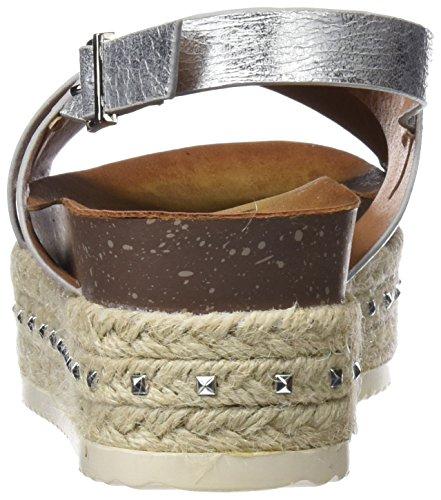 Sandales silver Ouvert Argent Bout Refresh 64402 Femme qCU5f