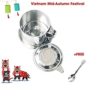The best quality Vietnamese Coffee filter, made from stainless steel, dishwasher safe, make your coffee taste be better, enjoy coffee time - Light Coffee