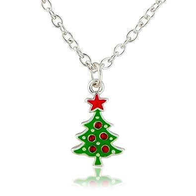 Amazon christmas costume jewelry necklace xmas tree fashion christmas costume jewelry necklace xmas tree fashion necklace suitable for women and children mozeypictures Images