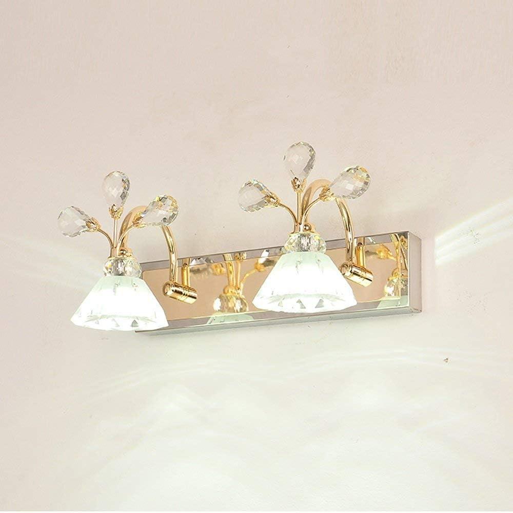 LEDバスルームメイクミラーミラー照明寝室リビングルーム防水防曇ステンレススチールシンプル(サイズ:34cm)