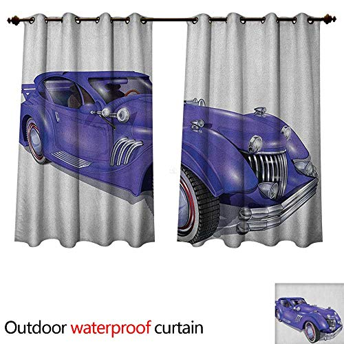 High Spoiler Profile (Anshesix Cars Home Patio Outdoor Curtain Custom Vehicle with Aerodynamic Design for High Speeds Cool Wheels Hood Spoilers W63 x L63(160cm x 160cm))