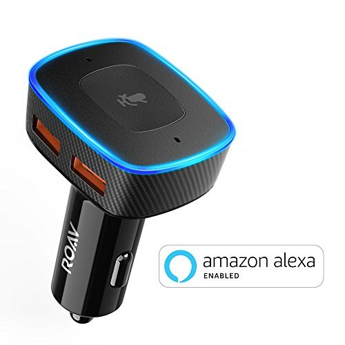 Roav VIVA, by Anker, Alexa-Enabled 2-Port USB Car Charger for In-Car Navigation, Hands-Free Calling and Music Streaming. iPhone Users: Update to the latest iOS (11.3)
