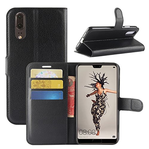 Huawei P20 Case, Fettion Premium PU Leather Wallet...