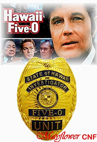Investigator Badge - Mayflower CNF Collection - State of Hawaii Five-O Unit Investigator Badge Replica - Jack Lord, Movie /TV series classical Prop