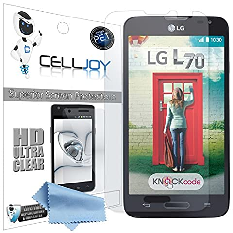 Celljoy® LG Optimus L70 Premium High Definition [HD Ultra Clear] (Invisible) Screen Protector Guard Films with Lifetime Replacement Warranty [5-Pack] - Retail (Cover De Lg 70)